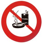 Aufkleber, Rygning forbudt - 1 stück